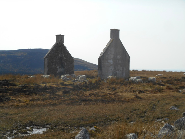 Remains of the gabled house