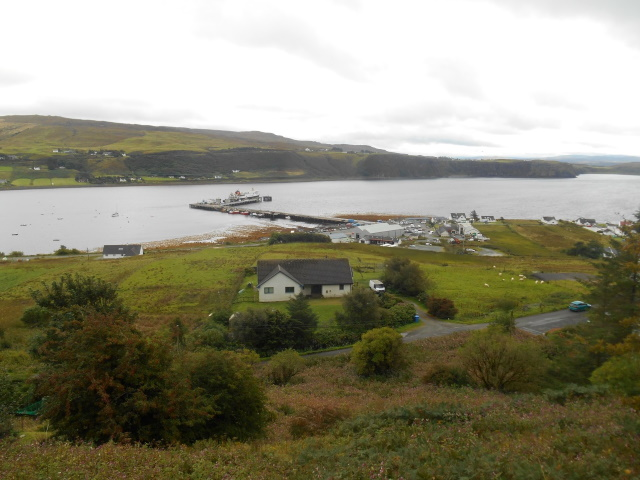 Uig Pier from above