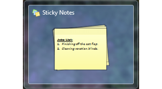 Changing Text Styles on Windows 7 Sticky Notes