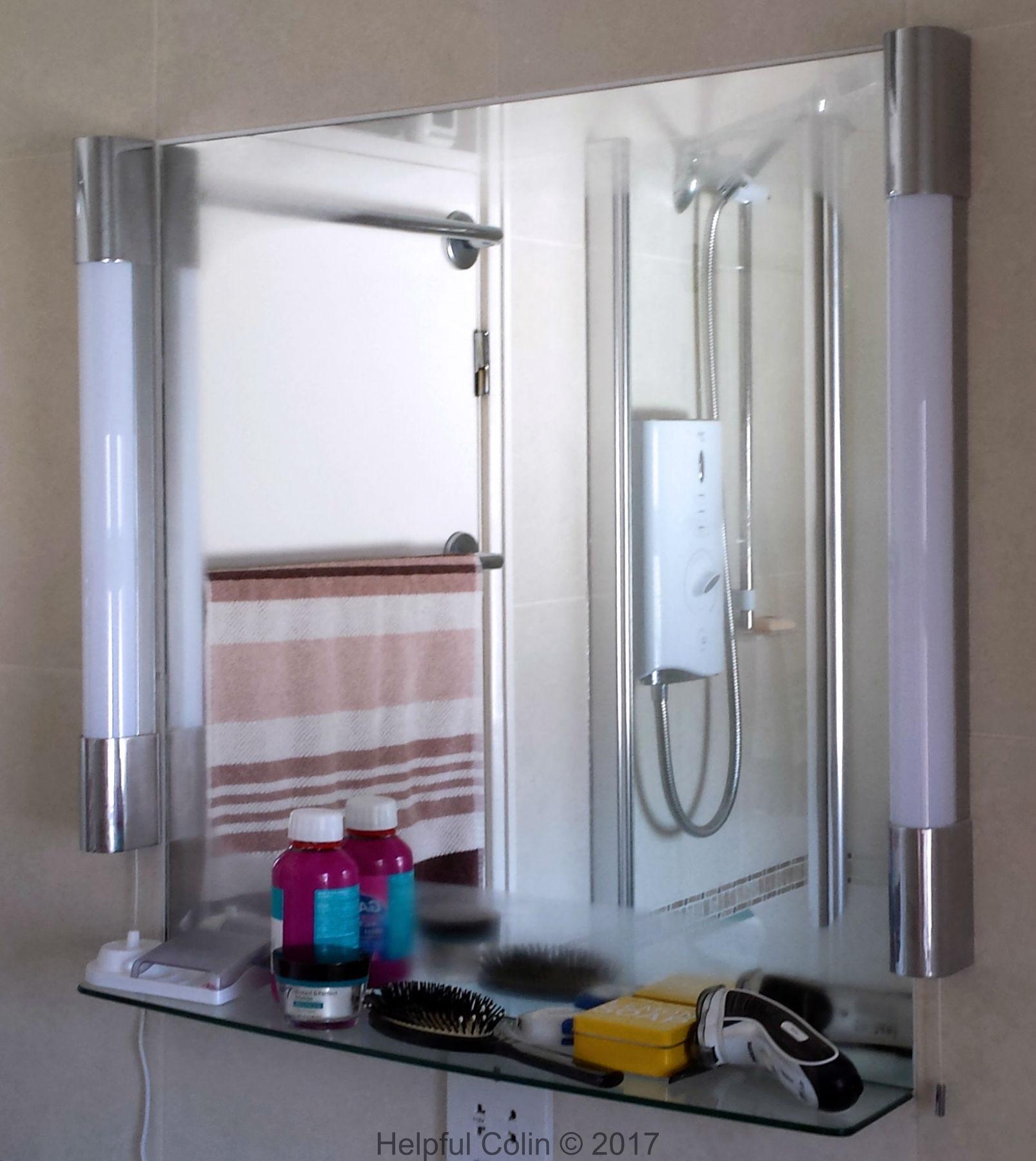 condensation free bathroom mirror