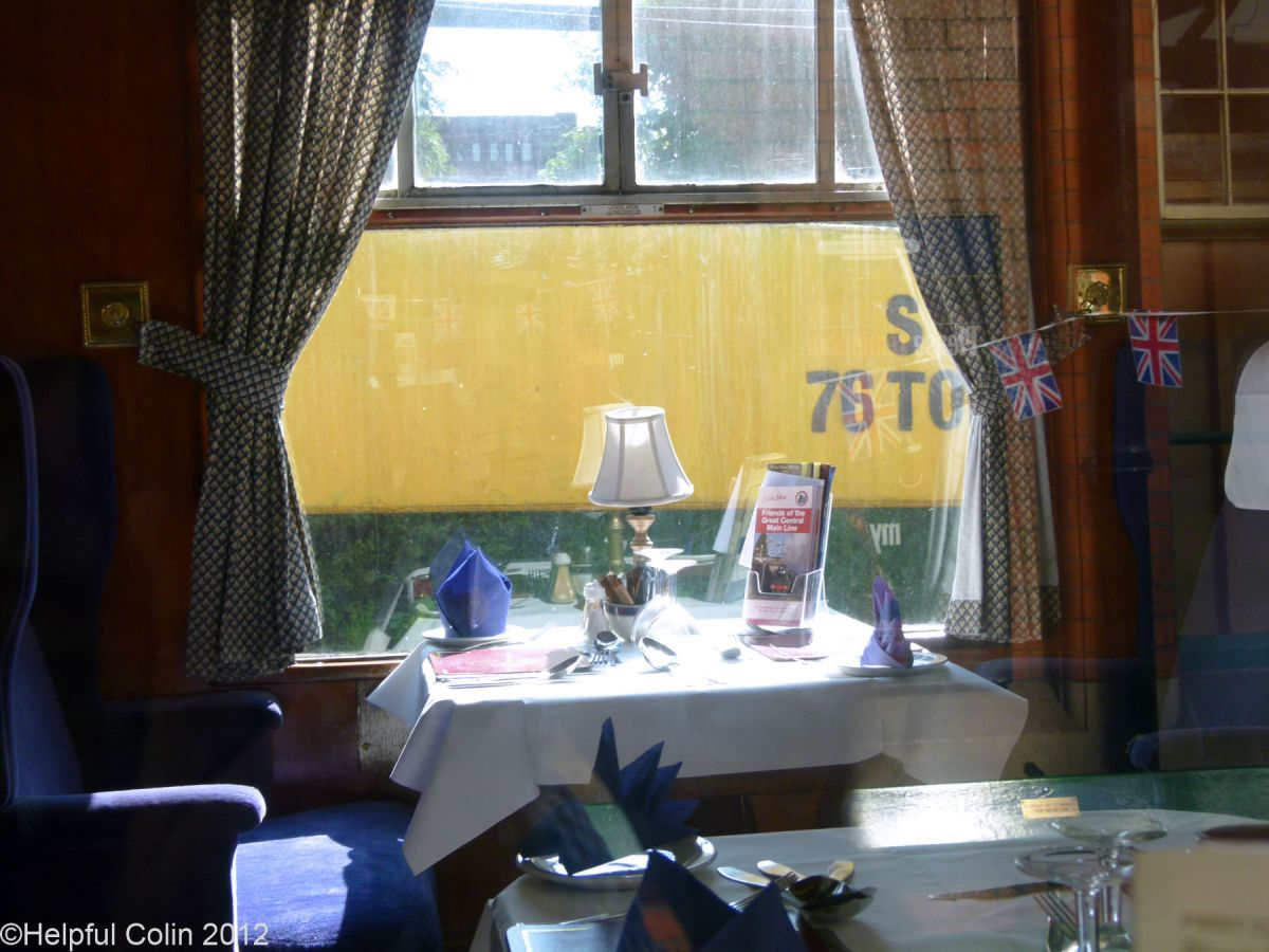 Dining On A Steam Train At The Great Central Railway