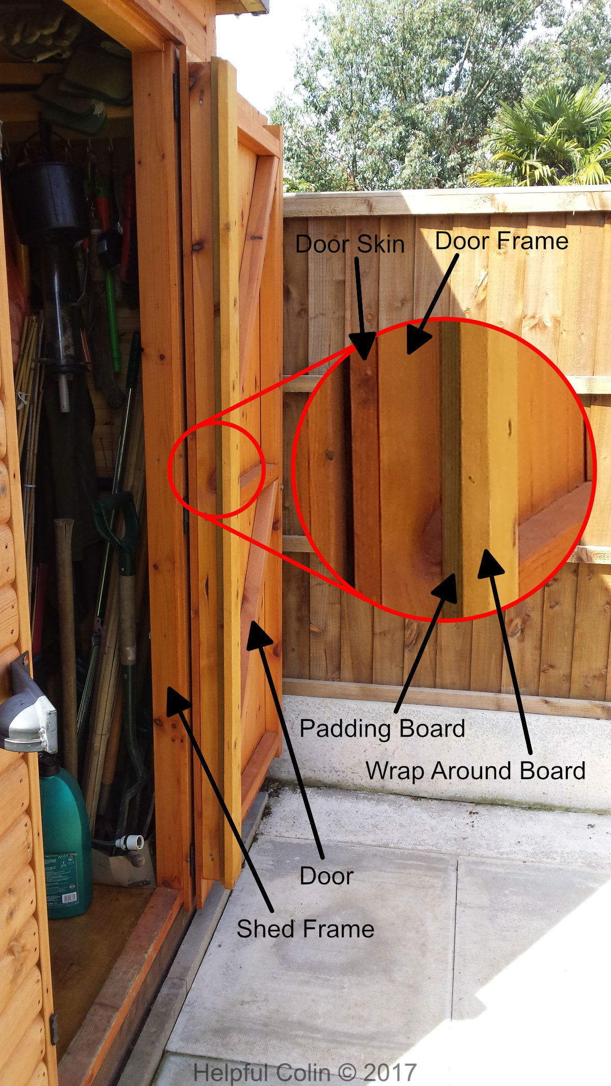 Securing Shed Doors On The Hinge Side