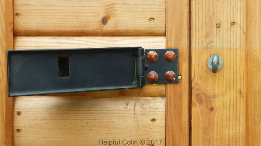 The Lullington Hasp Open - Securing Shed Doors