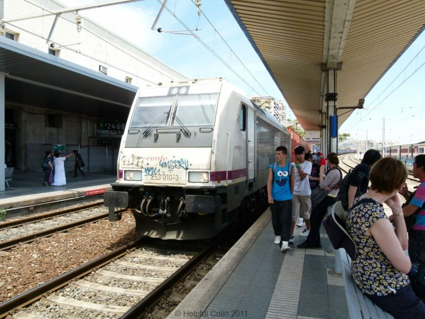 Renfe Locomotive at Taragona Station Spain