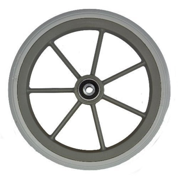 Wheelchair front wheel