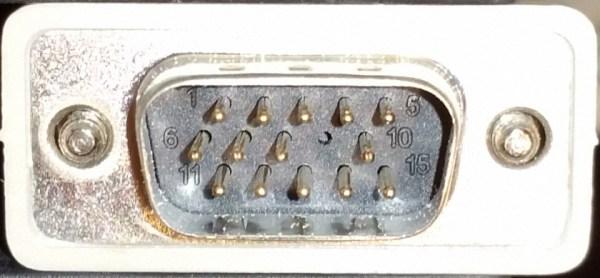 14 Pin VGA Male Plug