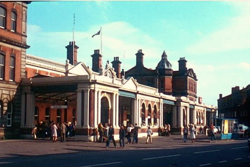 Derby Station Forecourt 1980