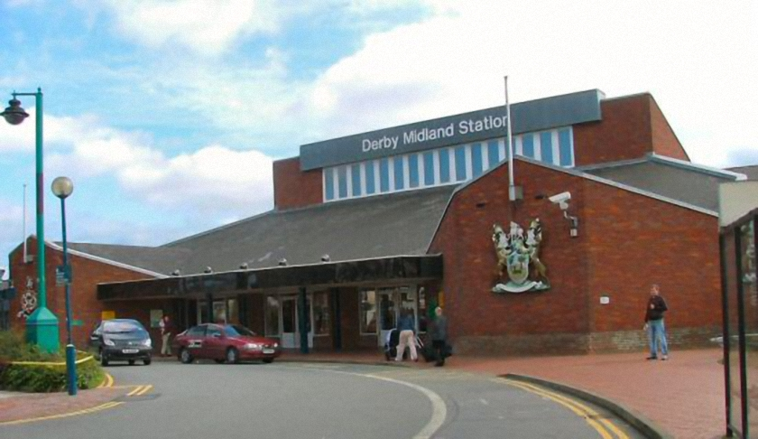 Derby Station Forecourt Before 2013 upgrade (no Flash Mob then)