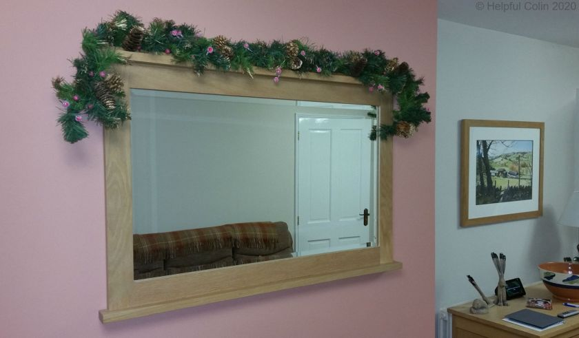 Garland on Chimney Breast Mirror