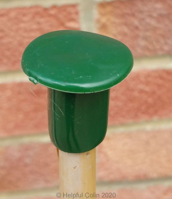 A Cane Cap or Topper on a cane used to hold a Plant Pot Reservoir