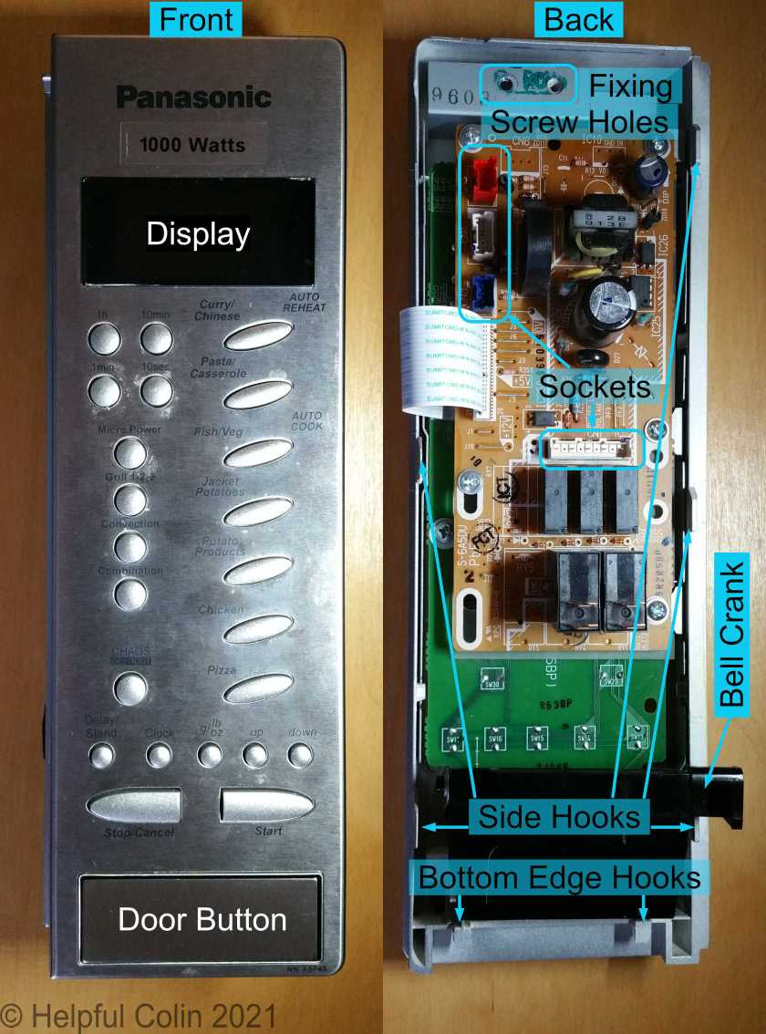 The Microwave Inverter Control Panel - Front and back.