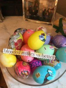 Blended bowl of eggs
