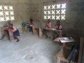 Kids in class in the annex