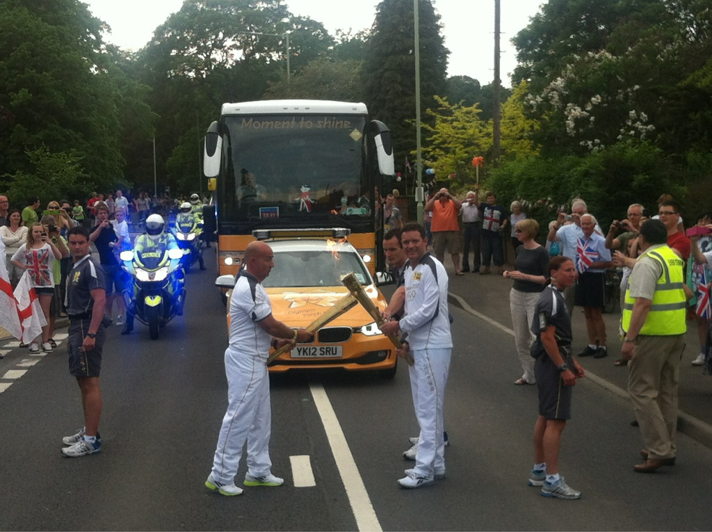 corporate Olympic torchbearers image