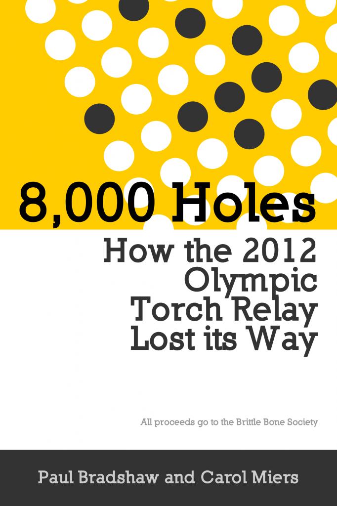 8000 Holes - How the 2012 Olympic Torch Relay lost its way book cover