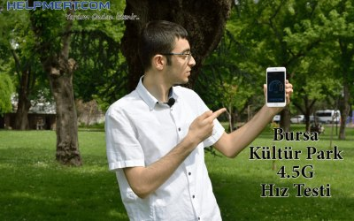 Bursa Kültür Park 4.5G Hız Testi