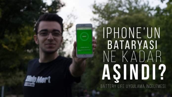 iPhone'un Bataryası Ne Kadar Aşındı - Battery Life Uygulama İncelemesi - İPhone Batarya Durumu Öğrenme
