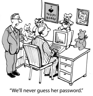 never guess her password