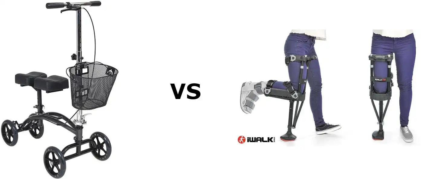 knee walkers vs hands free crutches