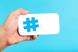 Hashtags Mobile Hashtag Horizontal Concept
