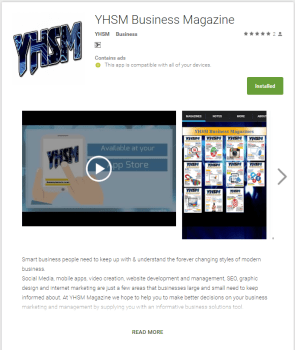 Mobile App YHSM Business Mag Build an Online List For Your Company