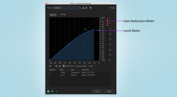 Adjust the amplitude and compression effects
