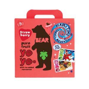 Yoyo multipak jordbær Bear pure fruit 5×20 gr