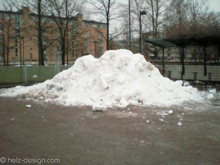Schnee am Stück
