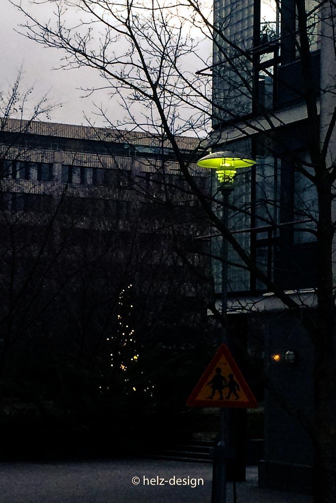 Grünes Laternenlicht
