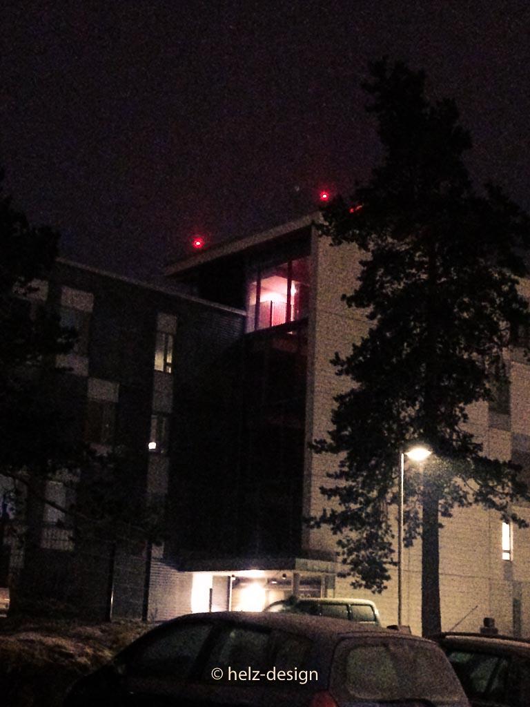 Beleuchtetes Treppenhaus
