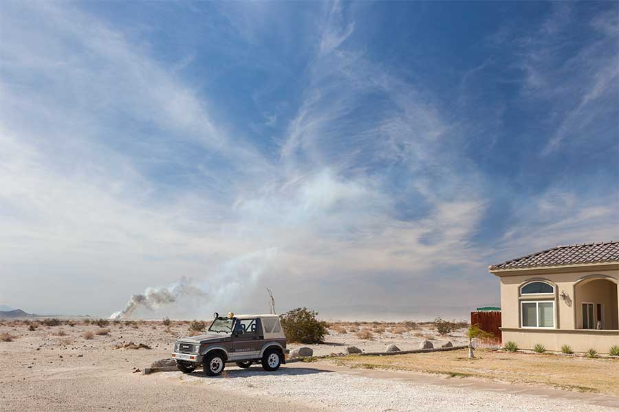 Bering Avenue, Salton City, California. 2015. From the series Public Spaces by Michael P Martin.
