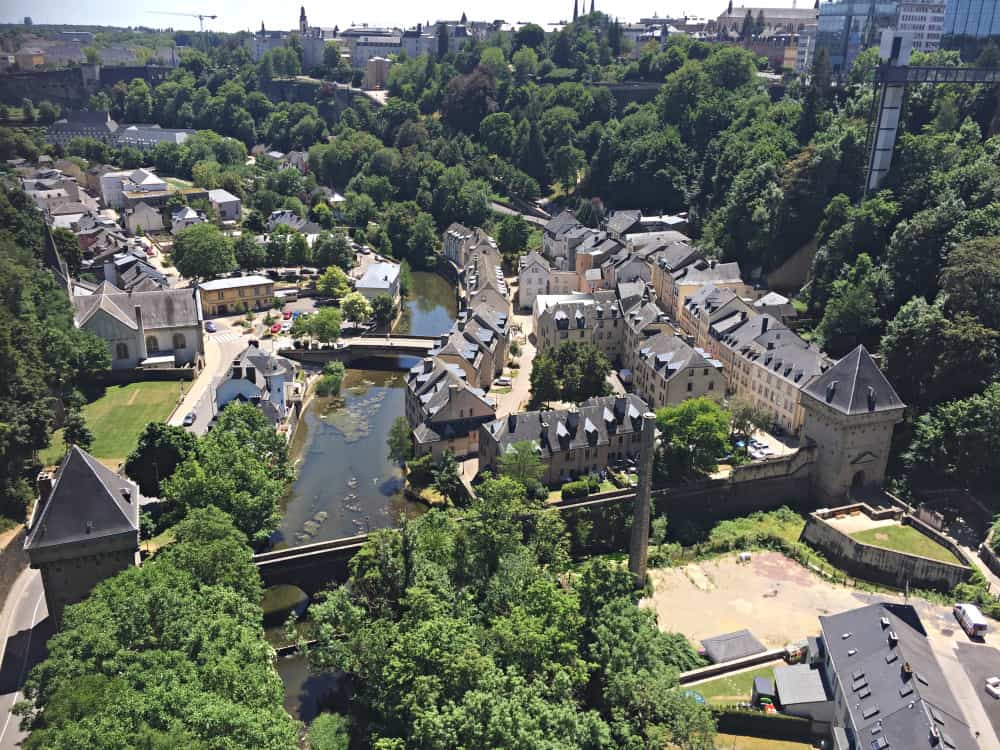 Udsigt over Luxembourg