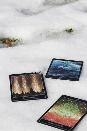 雪とタロットカード1