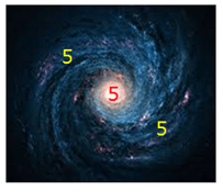 5 Yellow aka Star 5 Earth Galaxy and Solar System - Heluo Hill