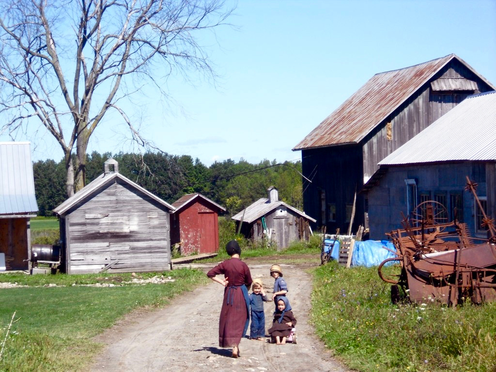 Ferme amish en 2012 à Morristown (Etat de New York)
