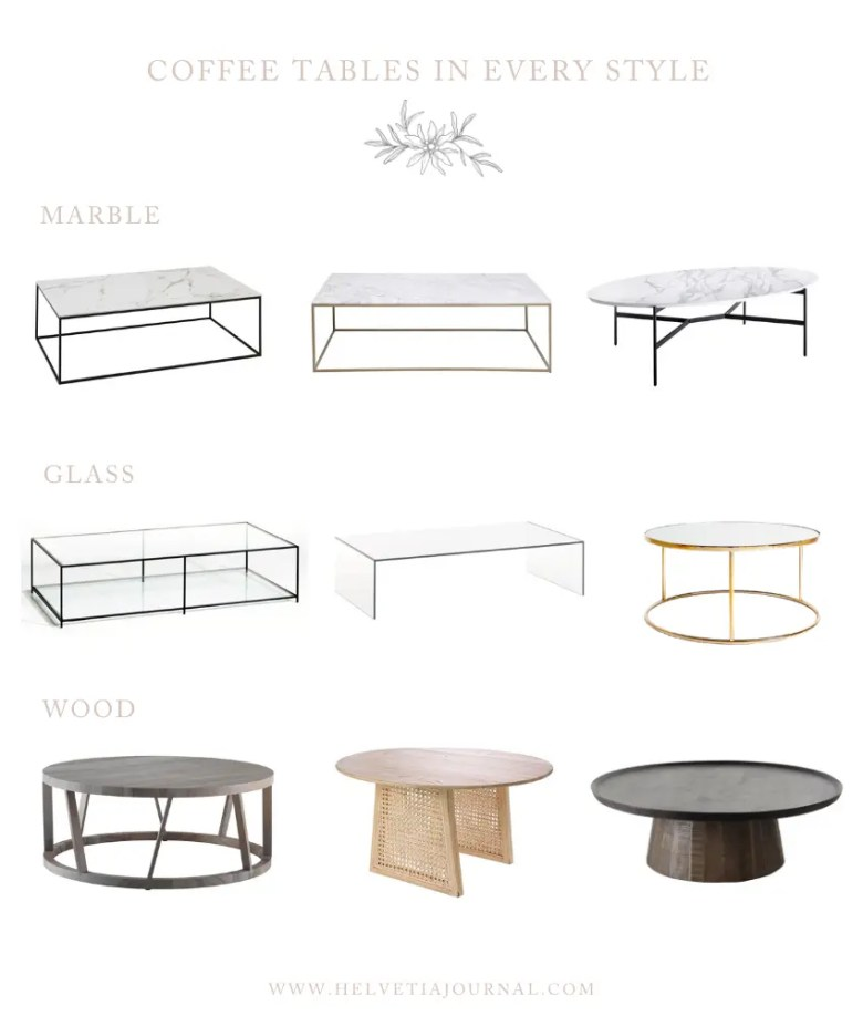 Coffee Table Styles Collage