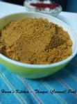 Thengai Podi or Coconut Powder