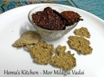 Mor Milagai Vadai / Sun Dried Curd Chilly Patties