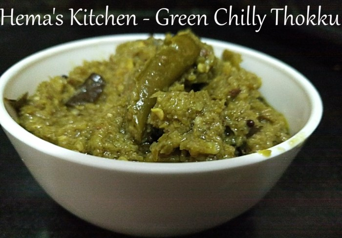 green-chilly-thokku