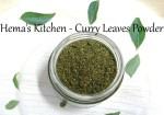 Kariveppilai Podi / Curry Leaves Powder