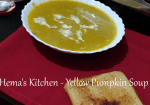 Yellow Pumpkin Soup