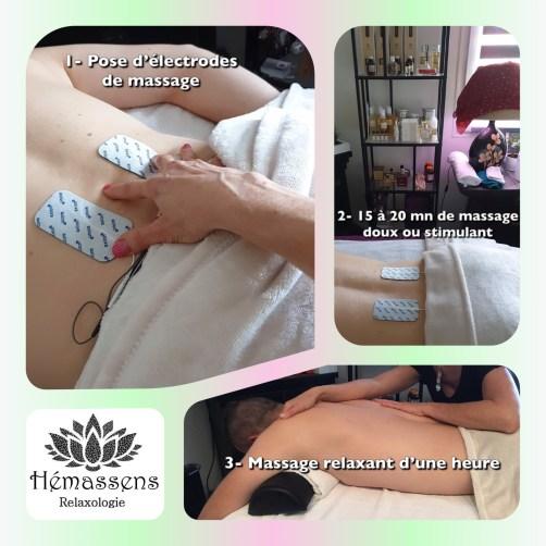 Massage combiné neurostimulation Hémassens Relaxologie Fameck