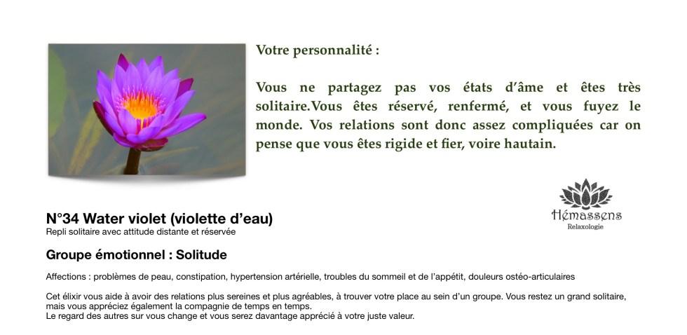 Water Violet Fleur de Bach Hémassens Fameck