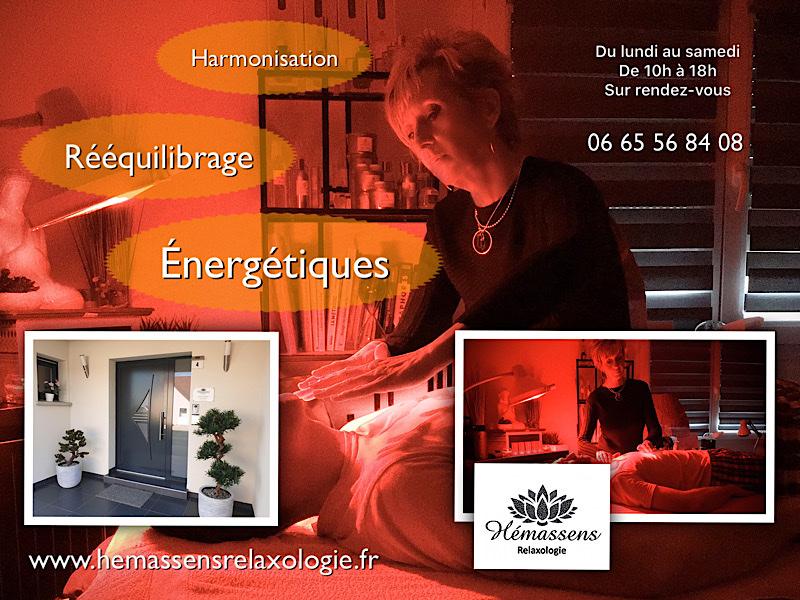 Harmonisation et rééquilibrage énergétiques. Magnétisme Hémassens Relaxologie Fameck