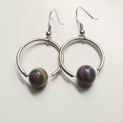 Boucles d'oreilles malachite