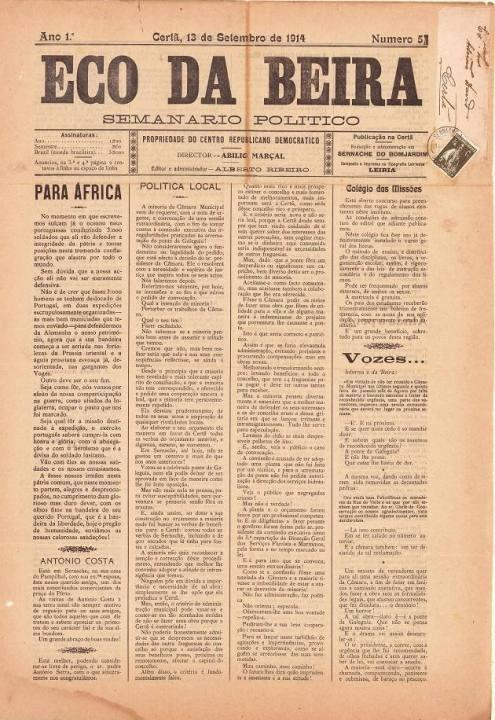 Eco Da Beira Nº5 13 09 1914 P