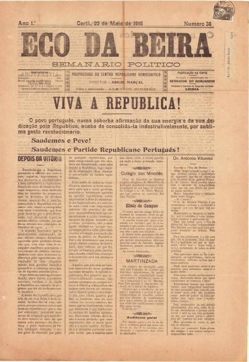 Eco Da Beira Nº38 23 05 1915 P