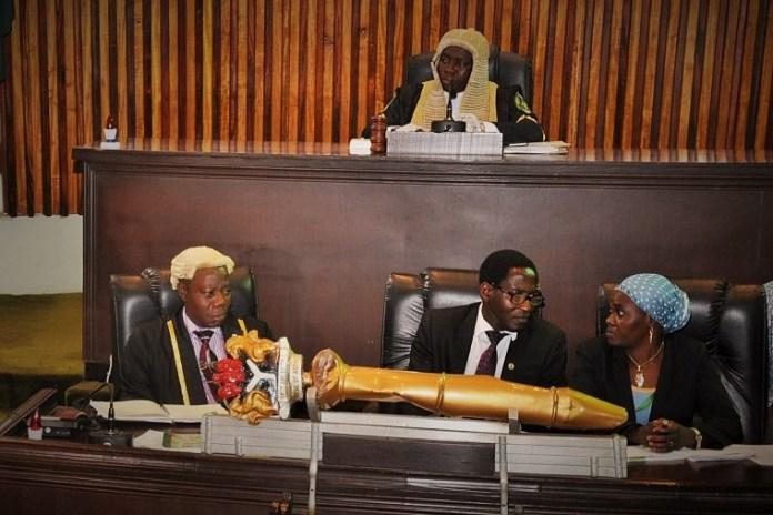 Le bureau de l'Assemblée de Kaduna lors de l'adoption du projet de loi ce vendredi 7 juin 2019 © nassnewsng.com/HA
