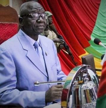 Laurent Ngon Baba, président de l'Assemblée nationale centrafricaine ce 29 octobre 2018 à Bangui. © Gael Grilhot/AFP/HA