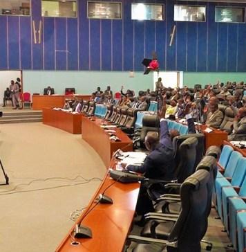 Assemblée nationale de la République du Congo lors du vote, le 1er mars, de la loi portant création de l'Agence congolaise pour l'emploi (ACPE) © vox.cg